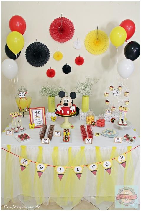 Decoração de festa Mickey