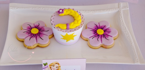 Doces decorados rapunzel