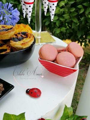 Macarons ladybug